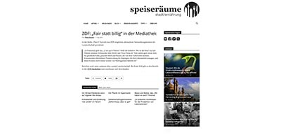 "ZDF: ""Fair statt billig"""