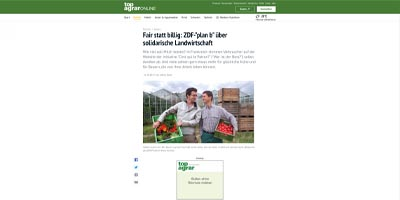 """Fair statt billig: ZDF-""""plan b"""" über solidarische Landwirtschaft"""