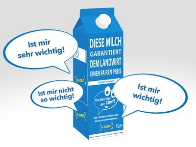 Milchkarton, Fragebogen